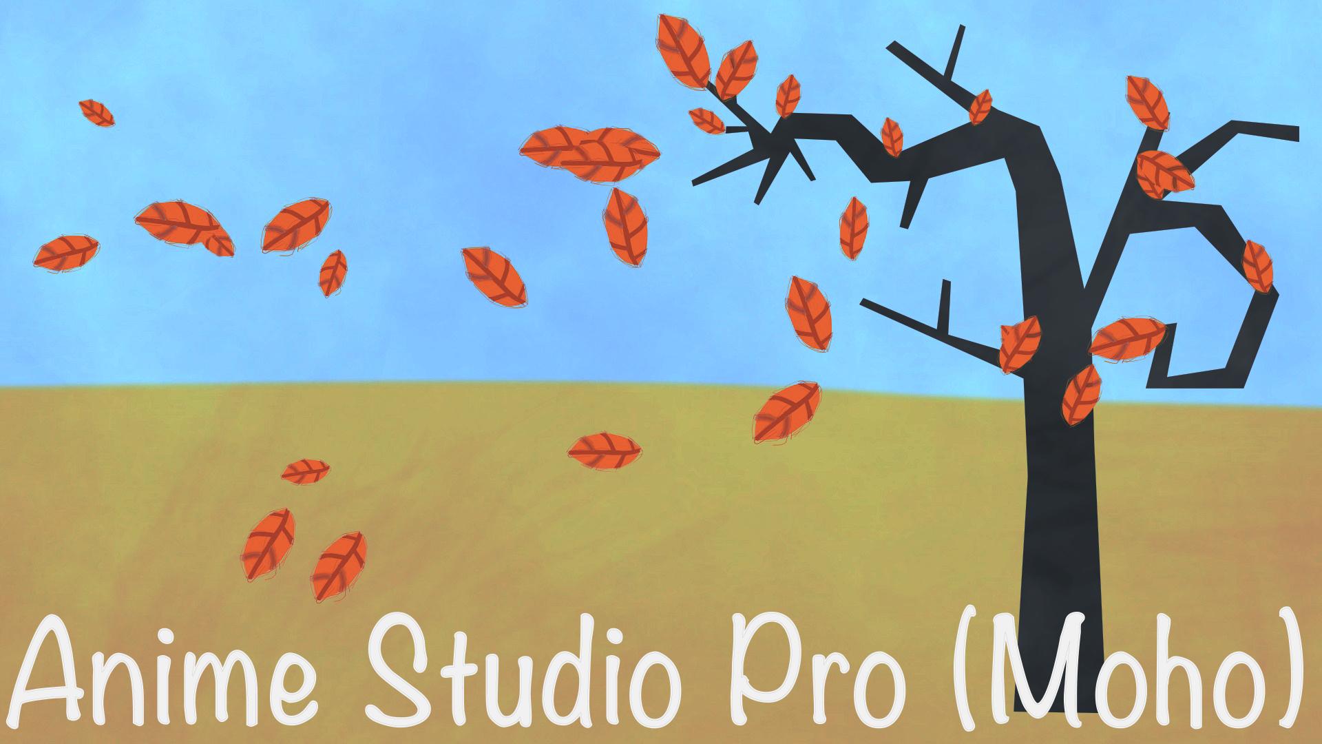 Анимация падения листьев с дерева Anime Studio Pro Moho Pro Мульт Уроки Александр Птичкин Mult-uroki.ru